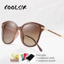 COOLSIR Luxury  Sunglasses Women Rhinestone Polarized Female Sun Glasses For Driving UV400 Ladies Eyewear Shade Black цена и фото