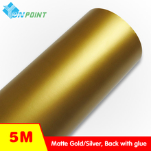 5M Thick Matte gold Self adhesive PVC Wallpaper Home appliances Fridge Decorative Stickers Vinyl Metal wall stickers home decor