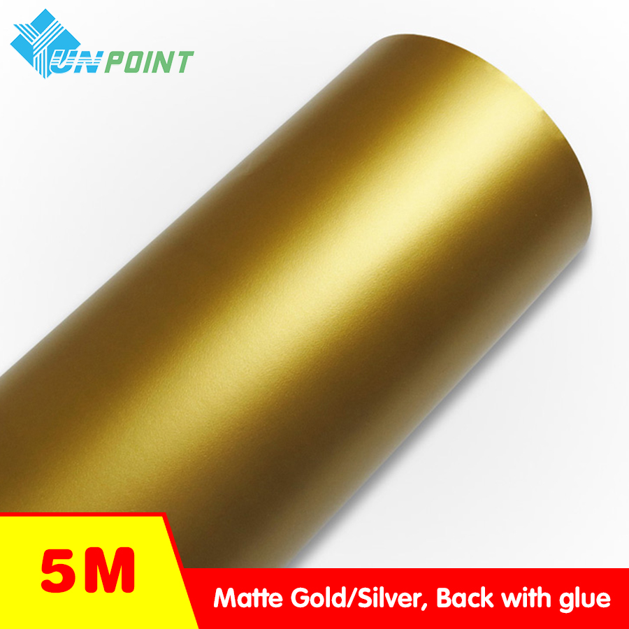 5M Thick Matte gold Self adhesive PVC Wallpaper Homs