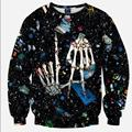 2016 Newest arrival Fashion Men Funny 3d sweatshirts animals printed galaxy harajuku sweatshirt hoody tops clothes