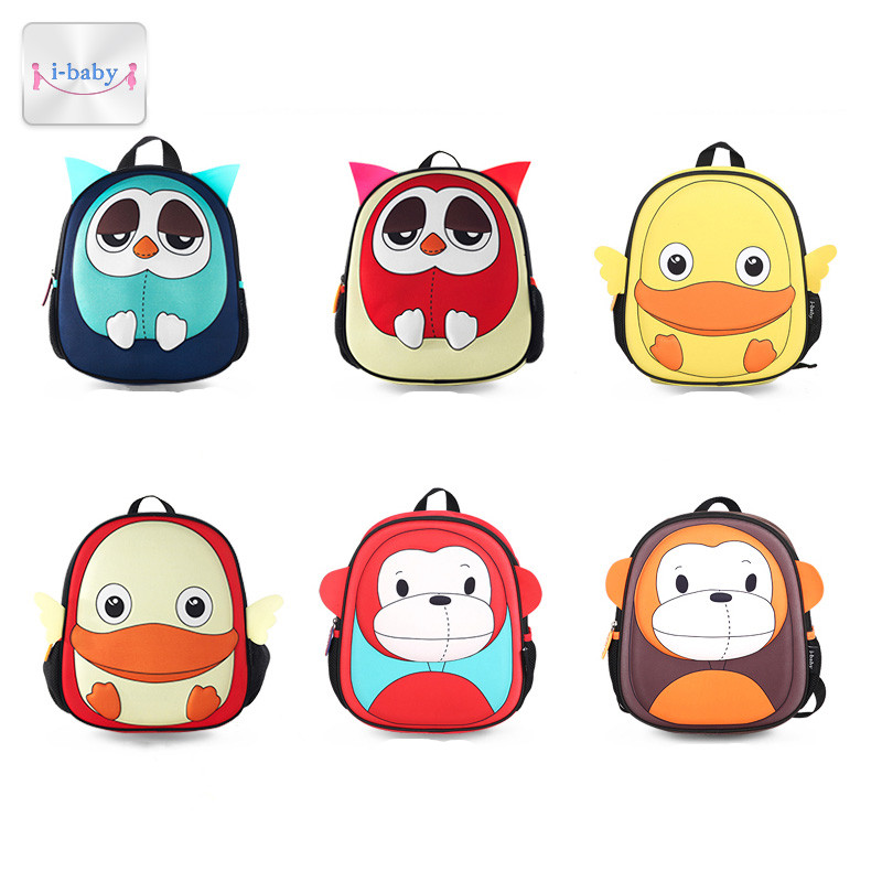 Купить с кэшбэком i-baby 3D Animal Design Harness Baby Kids Backpack with Leash Toddler Waterproof Backpack with Safe Harness, Ages 1+, 6 Colors