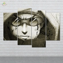 Naruto Aburame Shino Wall Art HD Prints Canvas Painting Modular Picture And Poster Decoration Home 4 PIECES