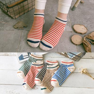 Té color calcetines calcetines calcetines de algodón niños primavera calcetines de punto de la boca baja
