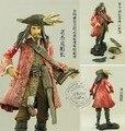 Neca el transporte a granel originales piratas of the caribe viejo capitán jack accesorios de armas 8 cun 20 cm modelo muñeca capitán jack sparrow