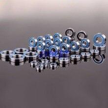Roulements à billes métriques, 43 pièces, bleus scellés en caoutchouc sur les deux côtés de la voiture RC, compatible avec rc traxxas Summit KIT, acier chromé 52100