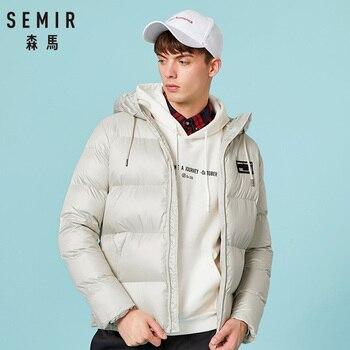 SEMIR nouvelle mode veste d'hiver hommes manteau chaud veste hommes Parkas vestes hommes manteau fermeture éclair à capuche col veste