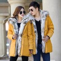 Của Men mới và nữ của down jacket chất lượng cao dày ấm Lông trùm đầu parka hiệu lớn kích thước màu vàng đen trắng S-5XL