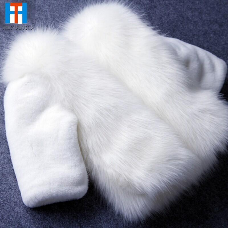 ФОТО Fashion Kids clothes winter fur coat for girls baby clothes parka elegant clothing for girls girl outerwear luxury faux fur