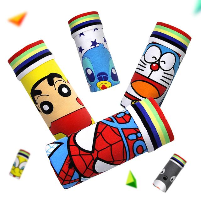 Cartoon Cueca Boxer Cotton young Men Brands Underwear Hombre Panties Male Superman Underwear Mens Trunk sexy Superman Underpants