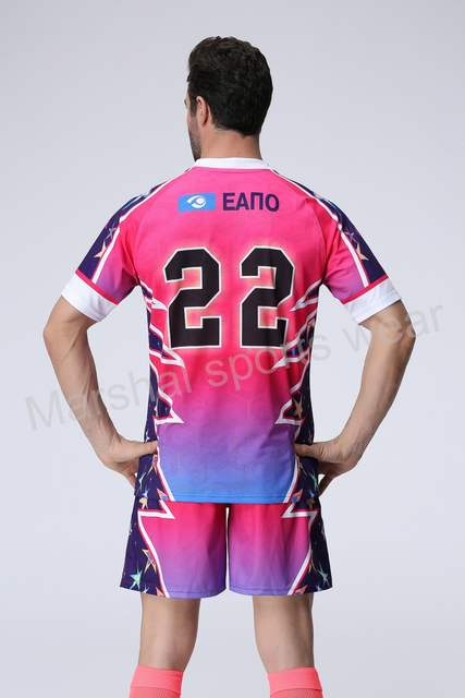 Pink color soccer jersey team soccer uniform wholesale custom your club  soccer kits Top quality personalised 52a7c0e18