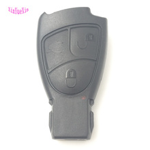 XinYueXin Soft Buttons Key Shell Case For Mercedes Benz B C E S ML SLK CLK Class 3 Fob Cover