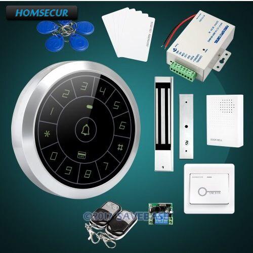 HOMSECUR Waterproof RFID Access Control Kit 180KG Waterproof Mag Lock For Outdoor and Indoor Usage