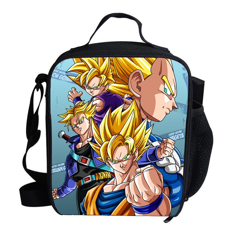 746ef4ecf28d Cool Small Kids Insulated Lunch Bag For School Dragon Ball Print Bag For  Food Picnic Bags
