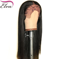 Elva Hair Pre Plucked Lace Front Human Hair Wigs Bleached Knots Straight Remy Hair Wig Brazilian Lace Front Wig With Baby Hair