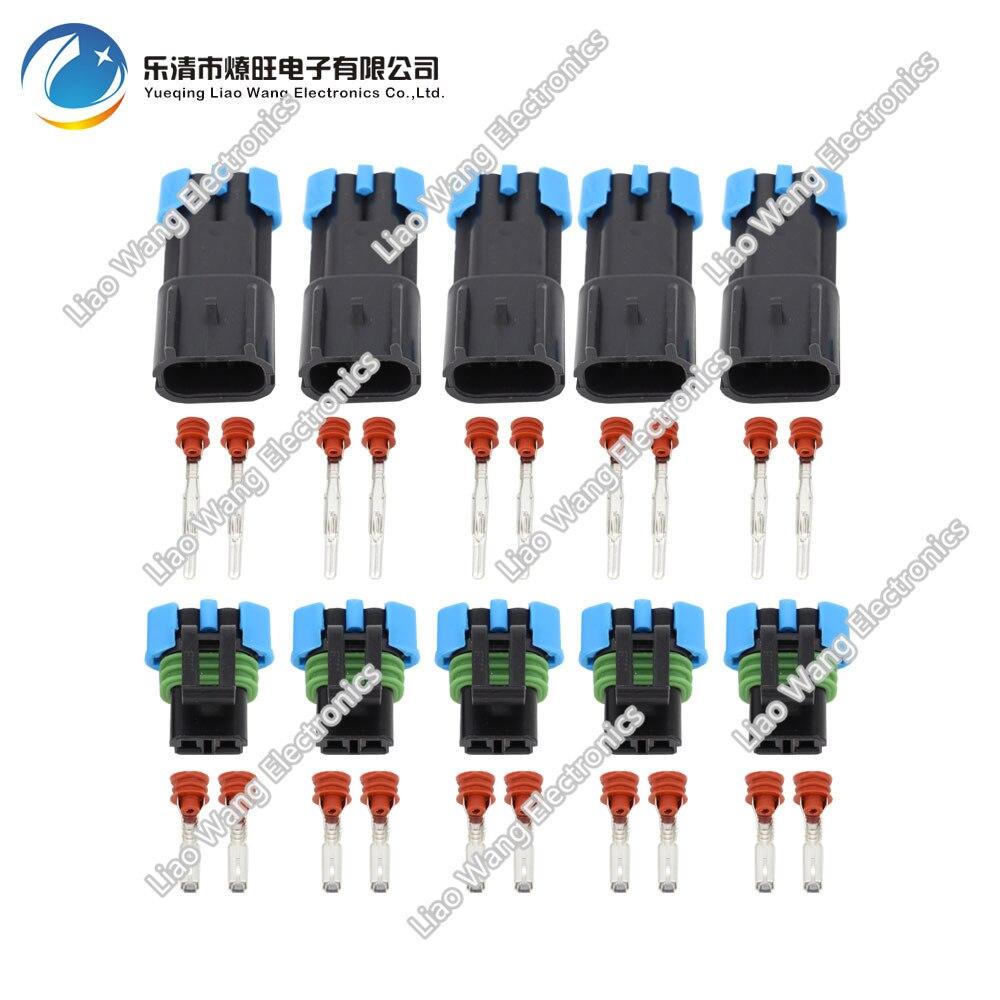 5 Sets Female Male GM 2 Pin Weather Pack Waterproof Sensor Fan ...