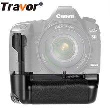 Travor Вертикальная Батарейная ручка для Canon 5D Mark II 5D2 Замена BG-E6 работать с LP-E6 батареей