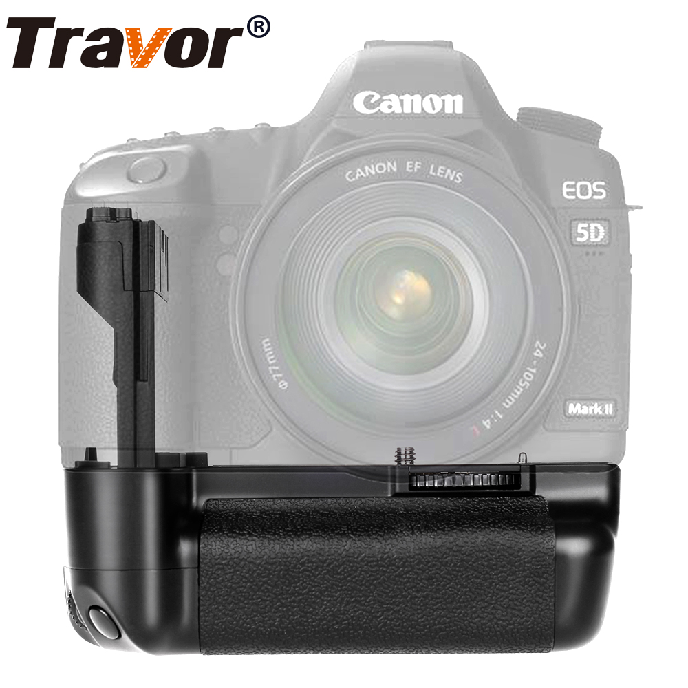 Travor Vertical Battery Grip Canon 5D Mark II 5D2: n vaihtoon BG-E6 toimii LP-E6-akulla
