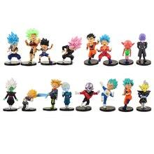 16 cái/lốc Dragon Ball Goku Gohan Vegeta Màu Đen Goku Zamasu Broli Jiren Hit Cabba Đại Linh Mục Cải Xoăn Hình Đồ Chơi búp bê