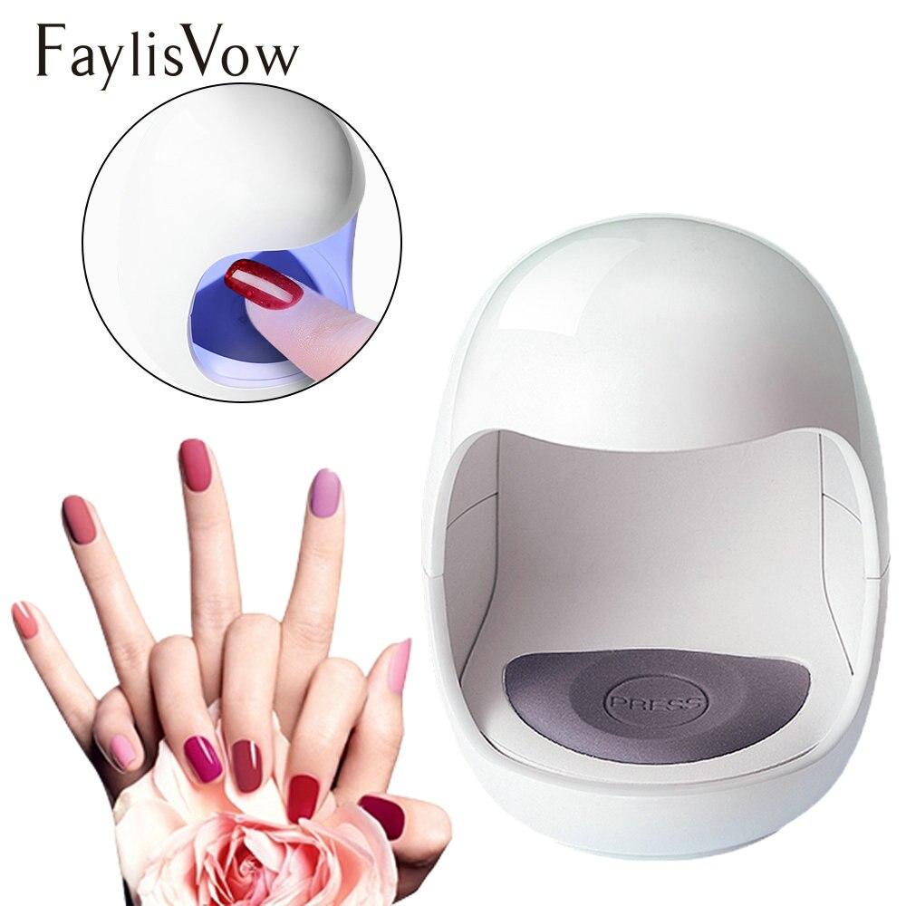 Mini LED UV Lamp Nail Gel Polish Dryer Curing Machine
