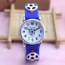 New arrival Unisex clock hours Men football kids student boys Watch brand Wristw