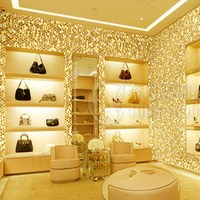 Laser Gold Glitter Wallpaper Chinese Style Wall Paper Clothes Shop PU Backside Wall Coverings 5m White