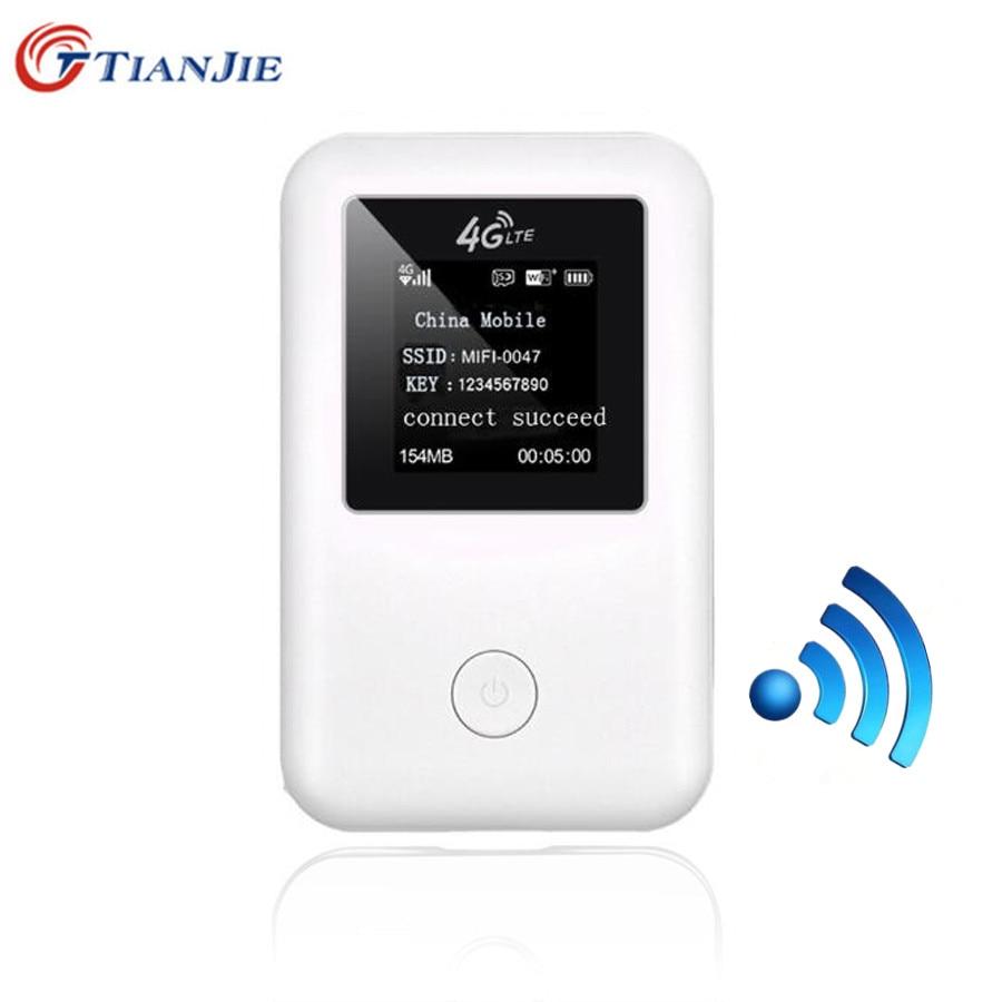 TIANJIE 4G Wifi Route 3G 4G Lte Wireless 150Mbps Car Mobile Wifi Cat 4 Hotspot Unlocked Modem With Sim Card Slot недорого
