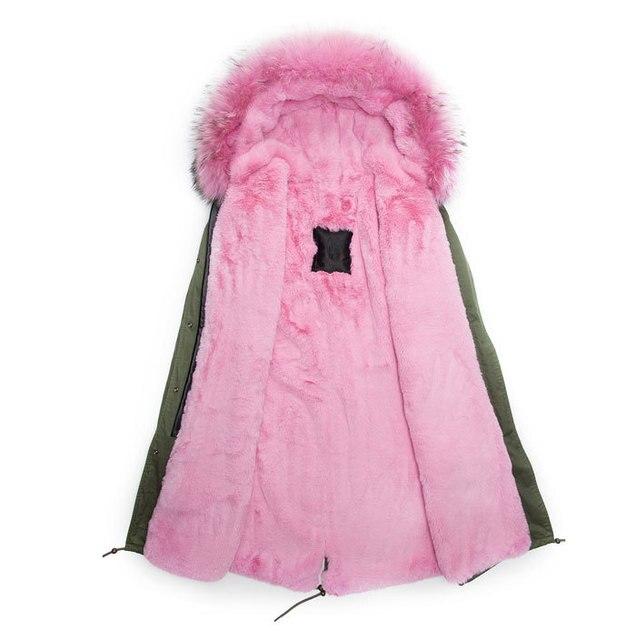 Atacado 2016 estilo longo casaco de pele, homens casaco de inverno da moda, rosa claro belos casacos de pele