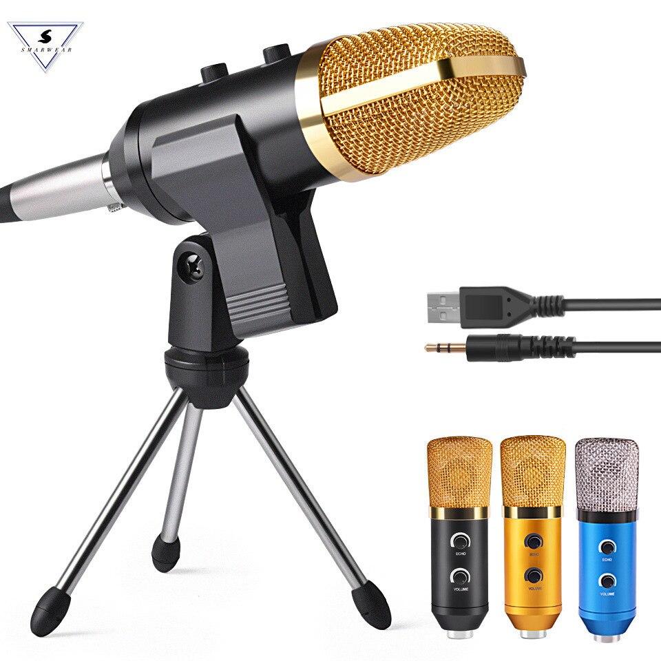 MK F100TL USB Condenseur À Son Enregistrement Microphone Avec Support Studio Professionnel Filaire Skype Ordinateur Karaoké Microphone