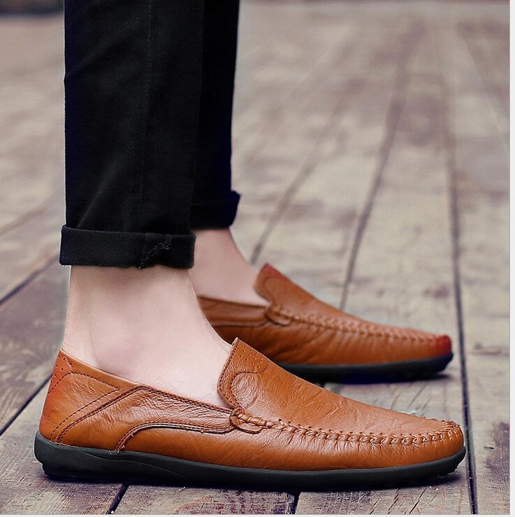 Taille On Hommes Cuir D'été Chaussures a2 Appartements Mâle Respirant Véritable 47 En Slip Casual Conduite 38 Mocassins De a3 A1 Grande SwfqS