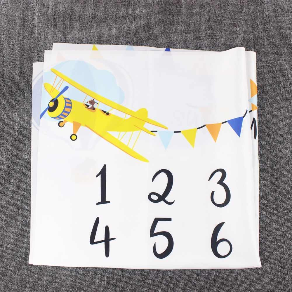 Bebê mensal marco aniversário cobertor recém-nascidos foto adereços crescimento lembrança cobertor fotografia pano de fundo 100x100cm