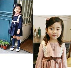 2012 hotfree shipping- Girls Dress baby dress Children dress long sleeve girl dresses child one-piece dress baby clothes
