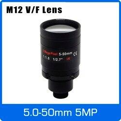 5 Megapiksel Varifocal M12 Mount Lensa CCTV 5-50 Mm Jarak Jauh View 1/2. 7 Inch Manual Fokus dan ZOOM untuk 1080 P/5MP IP/AHD Kamera