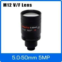 5Megapixel Varifocale M12 Mount Lens CCTV 5 50mm A Lunga Distanza di Vista 1/2.7 pollici Manuale Messa A Fuoco e Zoom Per 1080P/5MP IP/AHD Camera