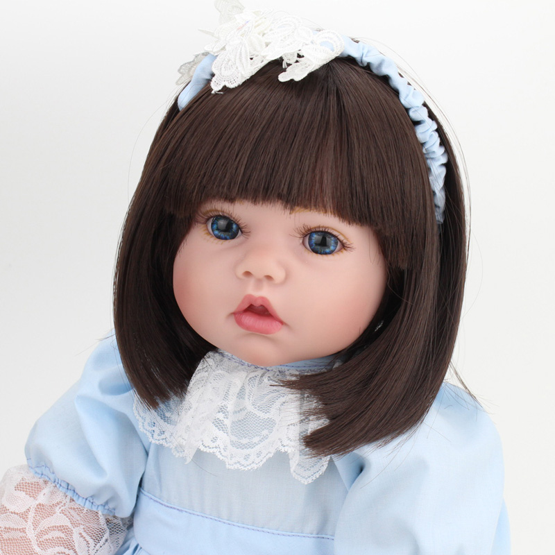 50cm American Girl Doll Reborn  Handmade Real Baby Dolls Soft Body Lifelike Princess Dolls With Clothes for Kids Toys lifelike american 18 inches girl doll prices toy for children vinyl princess doll toys girl newest design