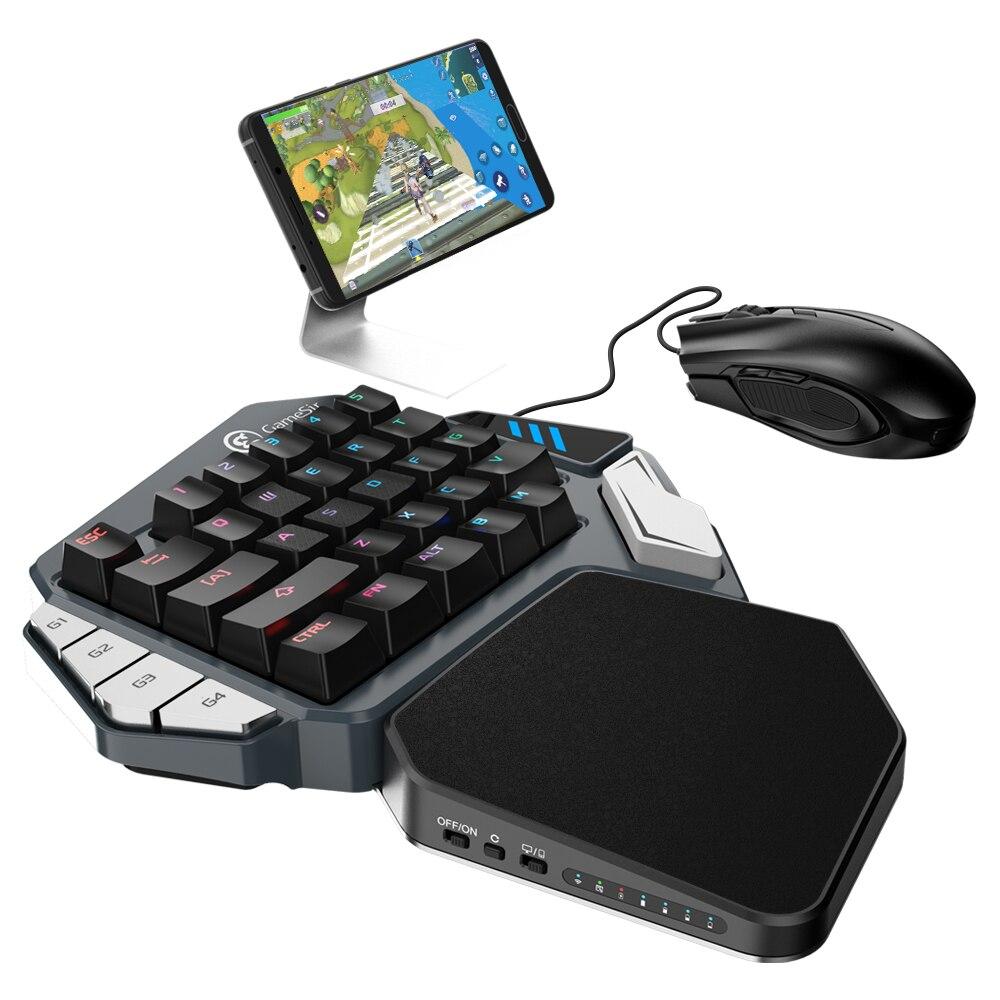 GameSir Z1 Gaming Clavier Pour FPS Jeux, d'une Seule main Cerise MX interrupteur rouge clavier/Mécanique Bleu axe clavier/BattleDock