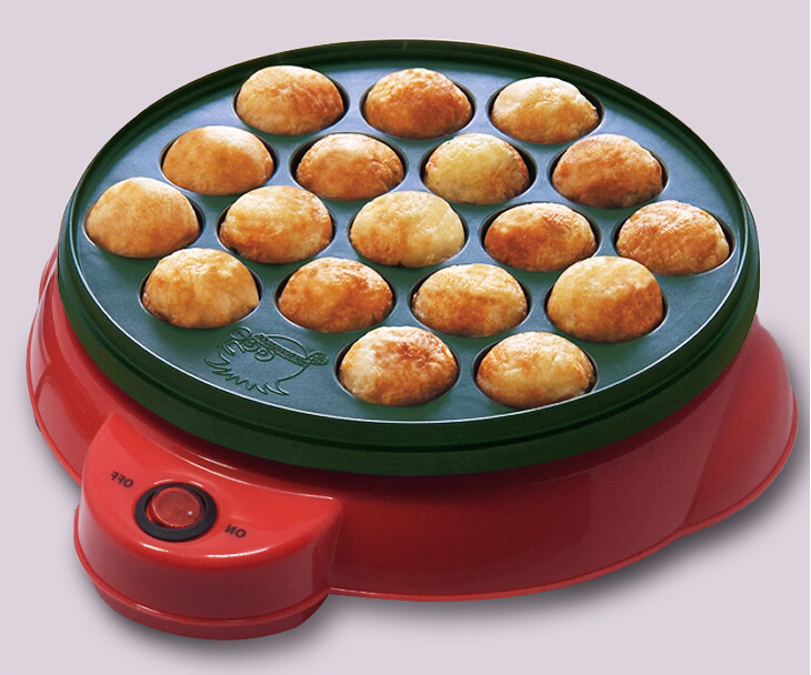 ФОТО Household Takoyaki Meatball Maker Grill Plate 18 Small Takoyaki Machine Non stick Electric Grill Pan Cooker with 18 Molds