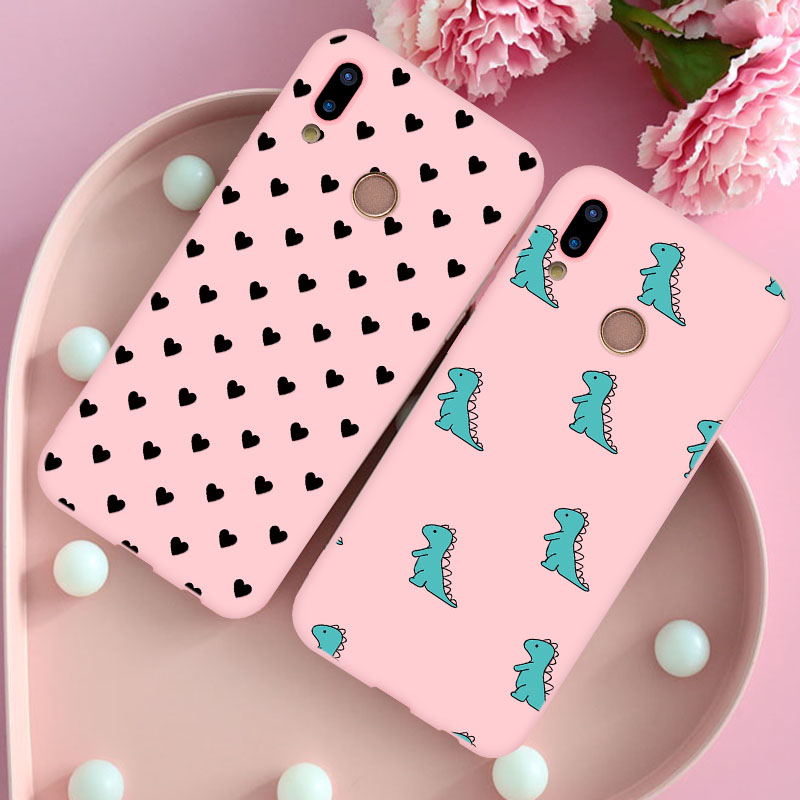 Candy Pink Silicone TPU Case For Huawei Honor 8X 9X 9 10 20 Mate 20 <font><b>30</b></font> 10 P20 P10 P30 <font><b>Lite</b></font> Pro <font><b>P</b></font> Smart Y6 Y9 2019 Nova 3 3i Capa image