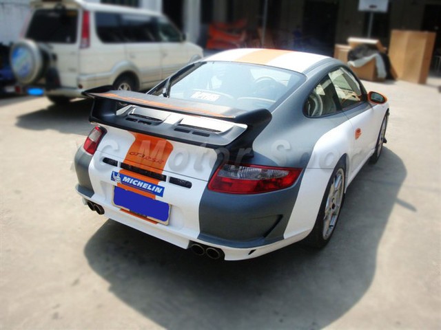 Car Accessories FRP Fiber Glass GT3 RS Style Rear Spoiler Fit For 2005