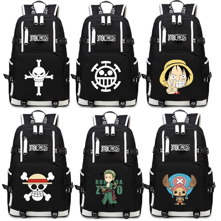 Japan Anime One Piece Luffy Team Glow In Dark Light Women Men Backpack Schoolbag Bag Boys Girls Student book bag huge 90cm gaint panda plush toy soft hugging pillow birthday gift christmas gift h2940