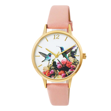 Exquisite Dial Bird Pattern Watch Soft Leather Strap Dress for Women Gift Elegance Design 3D dial Printing