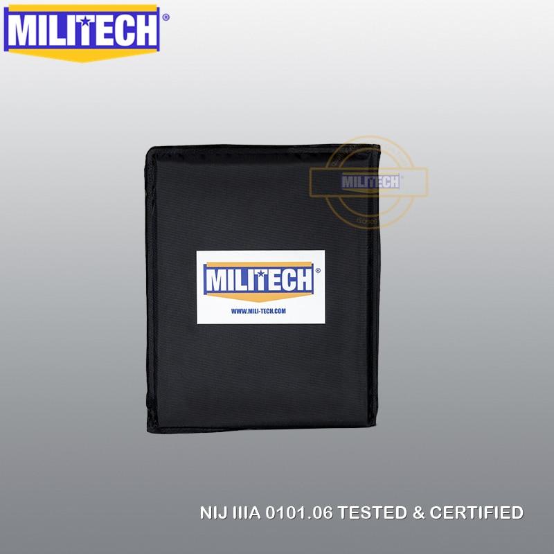 MILITECH 8'' X 10'' NIJ IIIA 3A 0101.06 & NIJ 0101.07 HG2 Aramid Soft Ballistic Panel Bulletproof Plate Inserts Body Armor(1 PC)