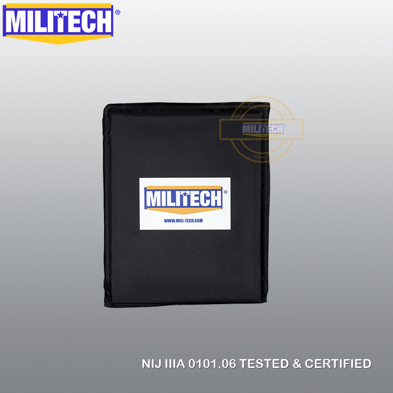 MILITECH 8'' X 10'' NIJ Level IIIA 3A Aramid Soft Ballistic Panel BulletProof Plate Inserts Backpack Briefcase Body Armor