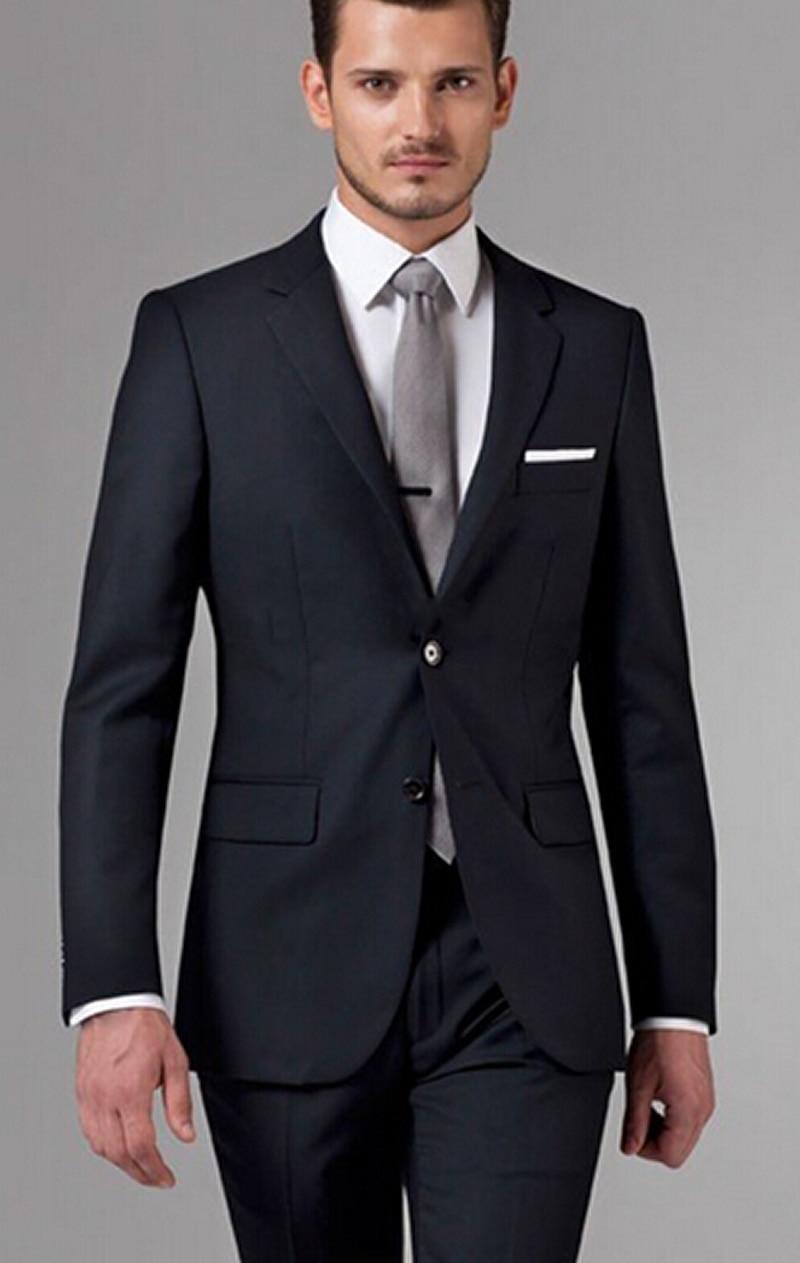 09d4829db6e72 Novio Trajes de Boda 2016 Hombres Conjunto Traje Negro trajes de novio  Trajes para hombre con Pantalones de Cuadros Verdaderos Hombres Blancos  Trajes para ...