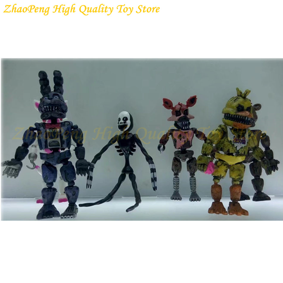 6 kom / set rasvjeta pokretni zglobovi pet noći u Freddy's Action - Igračke figurice - Foto 3