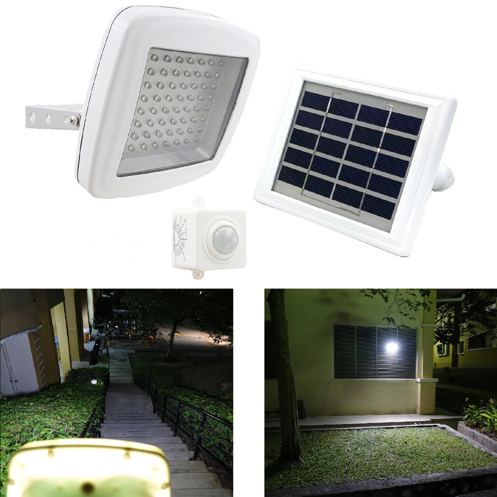 64led guardian 480x solar powered led security outdoor flood light solar pir motion sensor. Black Bedroom Furniture Sets. Home Design Ideas