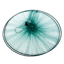 Fishing Net Small Fishing-nets Without-knot  Round Folding Metal Frame Nylon Mesh Care Creel Tackle