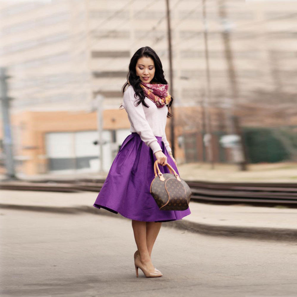 Aliexpress.com : Buy Elegant Autumn Skirts A Line Knee Length Midi ...