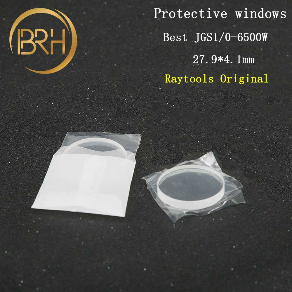 BRH Original Raytools Fiber Laser Protective Lens Glass 28 4 27 9 4 1mm For 0