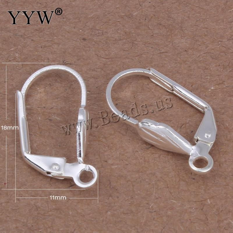 2x Sterling Silver CZ Crystal Earwire Leverback Connector for Dangle Earring