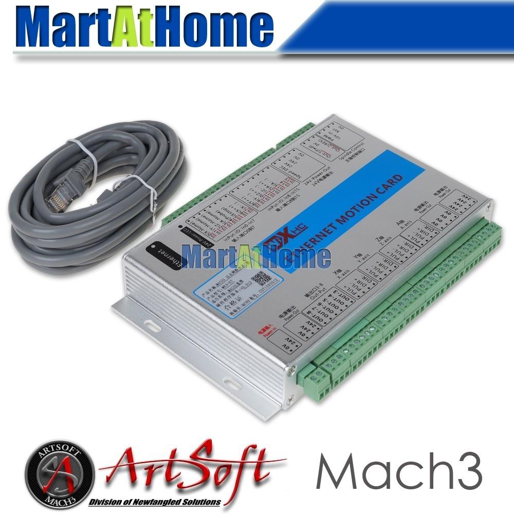 ᑐEthernet 2 MHz mach3 CNC 4 ejes tarjeta de control de movimiento ...